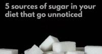 5 مصادر من السكر خفية فى طعامك وتؤدى إلى زيادة الوزن