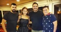 محمد سامي يعلن بداية تصوير فيلمه العميل صفر بصورة مع أكرم حسني ونيللي كريم