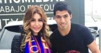 يارا فى صورة مع سواريز بعد رحيله عن برشلونة حظا سعيدا فى المرحلة الجديدة