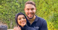 أول ظهور لليوتيوبر أحمد حسن وزوجته زينب بـ الحجاب بعد إخلاء سبيلهما صور