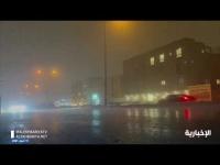 بالفيديو أمطار رعدية ورياح في الرياض