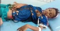 نيران قناصة الحوثي تصيب طفلة بجروح بالغة في التحيتا