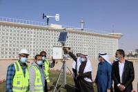 إطلاق محطة مناخية لقياس الأمطار وسرعة الرياح بالرياض