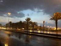 المدينة المنورة أمطار ورياح على محافظتين حتى الـ 8 مساء