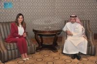 وزير الإعلام يبحث مع نظيرته اللبنانية قضايا الإعلام العربي