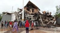 زلزال إندونيسيا 34 قتيلا مئات الجرحى وانهيار مستشفى
