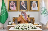 أمير منطقة نجران يستقبل مدير مكتب وزارة الرياضة وإدارة نادي الأخدود