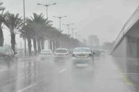 أمطار رعدية ورياح نشطة على معظم المناطق