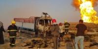 فيديو مقتل وإصابة 53 بانفجار خط أنابيب غاز في العراق