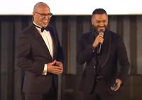 فيديو أشرف عبد الباقي يمازح الفنانين وتامر حسني يغني في حفل افتتاح مهرجان القاهرة السينمائي 2020