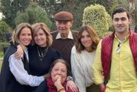 صور هنا شيحة تحتفل بعيد زواج والديها الـ43 في غياب حلا شيحة ومعز مسعود