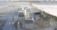 مقتل شخص وإصابة العشرات في تصادم أكثر من 130 سيارة بسبب الثلوج في اليابان