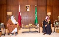 أمير قطر في زيارة رسمية إلى جدة ولقاء مع ولي العهد السعودي خلال ساعات