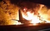 مقتل 22 شخصا بحادث تحطم طائرة عسكرية أوكرانية