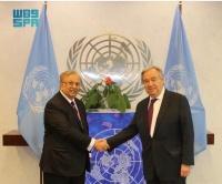 السفير المعلمي يهنئ الأمين العام للأمم المتحدة بفوزه بولاية ثانية