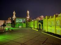 أكبر مركز إسلامي بأمريكا اللاتينية يتوشح باللون الأخضر ابتهاجا واحتفاء بالذكرى التسعين لتوحيد المملكة