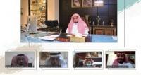 النائب العام يعايد منسوبي النيابة العامة افتراضيا عن ب عد