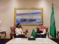 فيصل بن فرحان يبحث مع نائب رئيس الوزراء الأردني ووزيرة الخارجية الليبية العلاقات الثنائية