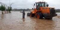 صور أمطار غزيرة على البرك والبلدية تباشر